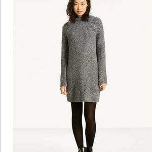 LEVI'S 100% Merino Wool Ribbed Mock Neck Dress XL